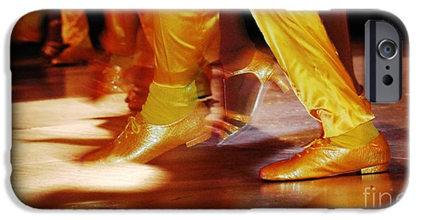 Dance Studio iPhone Cases - Salsa - Yellow Dancing Shoes iPhone Case by Anahi DeCanio - ArtyZen Studios