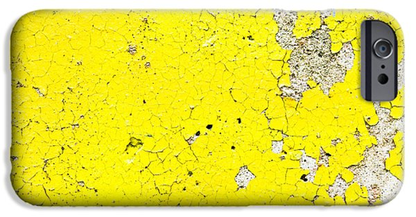 Design iPhone Cases - Yellow paint iPhone Case by Tom Gowanlock
