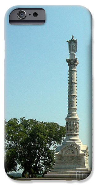 Yorktown iPhone Cases - York Town Victory Monument iPhone Case by Skip Willits
