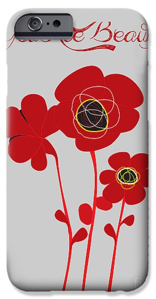 Consumerproduct iPhone Cases - You are beautiful - Poppies iPhone Case by Celestial Images