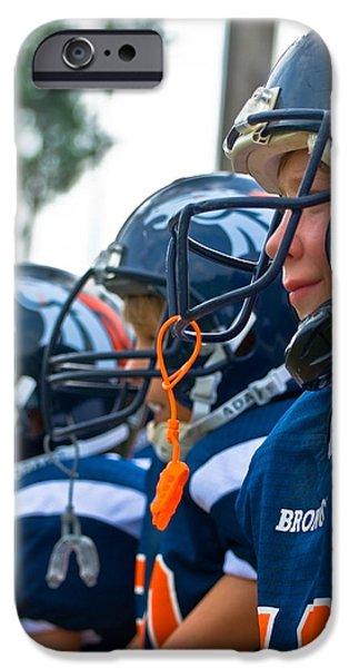Susan Leggett iPhone Cases - Youth Football iPhone Case by Susan Leggett