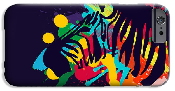 Colorful Abstract iPhone Cases - Zebra iPhone Case by Mark Ashkenazi