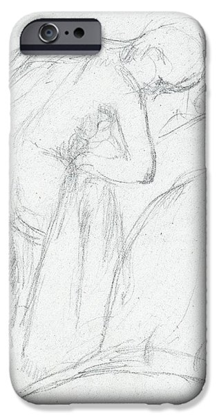 Skin iPhone Cases - After the Bath iPhone Case by Edgar Degas