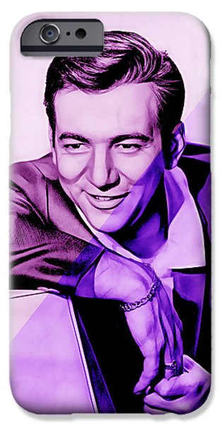 Pop Art iPhone Cases - Bobby Darin Collection iPhone Case by Marvin Blaine