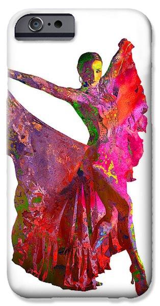 Ballet Dancers iPhone Cases - Dance iPhone Case by Elena Kosvincheva