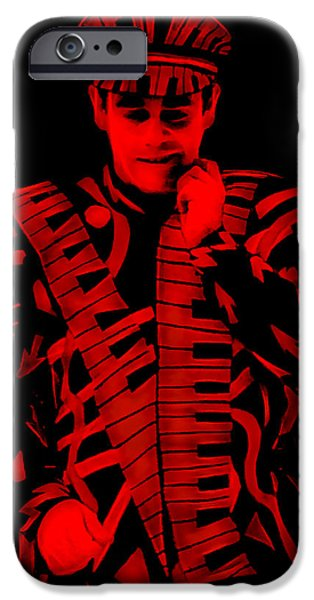 Elton John iPhone Cases - Elton John Collection iPhone Case by Marvin Blaine