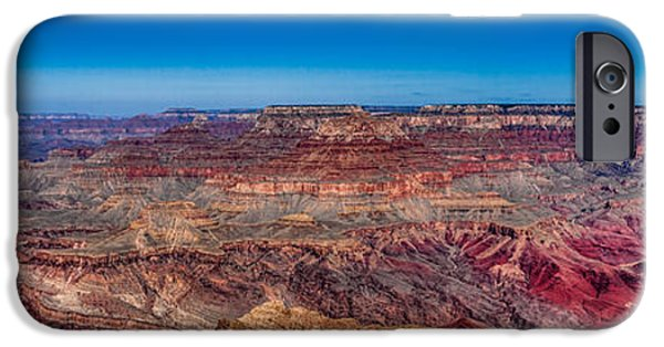 Red Rock iPhone Cases - Grand Canyon Panorama iPhone Case by Buddy Woods