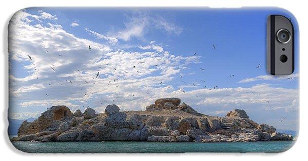 Seabirds iPhone Cases - Lake Beysehir - Turkey iPhone Case by Joana Kruse