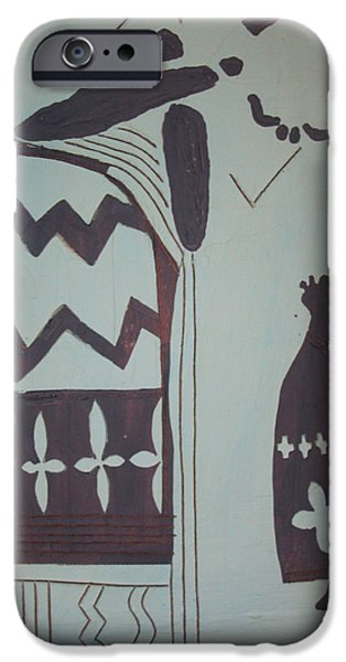 Nativity Ceramics iPhone Cases - Madonna and Child iPhone Case by Gloria Ssali