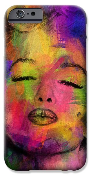 Adult iPhone Cases - Marilyn Monroe iPhone Case by Mark Ashkenazi
