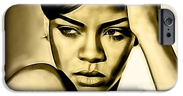 Rihanna iPhone Cases - Rihanna Collection iPhone Case by Marvin Blaine