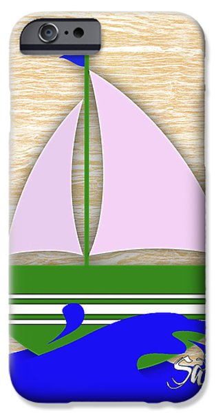 Boat iPhone Cases - Sailing Collection iPhone Case by Marvin Blaine