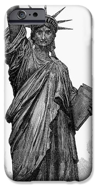 1884 iPhone Cases - Statue Of Liberty iPhone Case by Granger