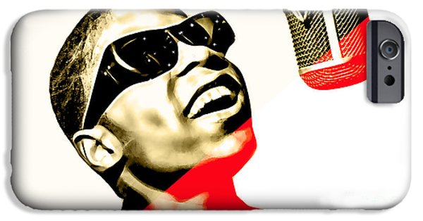 Star iPhone Cases - Stevie Wonder Collection iPhone Case by Marvin Blaine