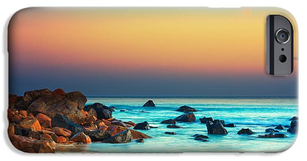 Sea iPhone Cases - Sunset iPhone Case by MotHaiBaPhoto Prints