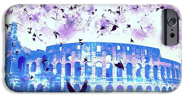 Epic iPhone Cases - The Roman Colosseum From Afar iPhone Case by Marina McLain