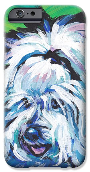 Coton Tulear iPhone Cases - 100 Per Cent Cotton iPhone Case by Lea