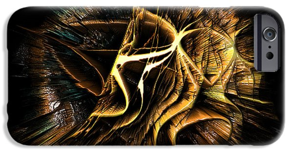 Abstract Digital iPhone Cases - 10112015 Rorshcach Explosion iPhone Case by Randy Colby