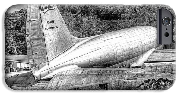 Curtiss iPhone Cases - 1019 Curtiss C46 Commando iPhone Case by Steve Sturgill