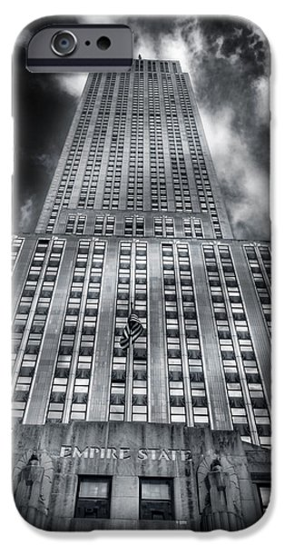 Empire State iPhone Cases - 102 Floors To Purgatory  iPhone Case by Mike  Deutsch