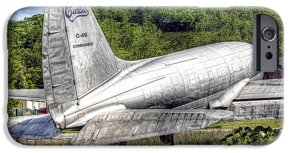 Curtiss iPhone Cases - 1020 Curtiss C46 Commando iPhone Case by Steve Sturgill