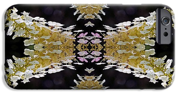 Abstract Digital Photographs iPhone Cases - Flower Mandala iPhone Case by Daniel Unfried
