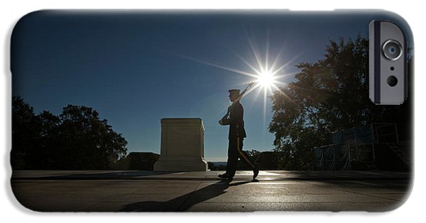Well Dressed iPhone Cases - Honor Guard At The Tomb iPhone Case by Terry Moore