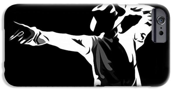 Michael Jackson Art iPhone Cases - Michael Jackson Art iPhone Case by Victor Gladkiy