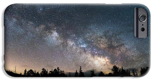 Night Photography iPhone Cases - 11 Mile Milky Way iPhone Case by Darren  White