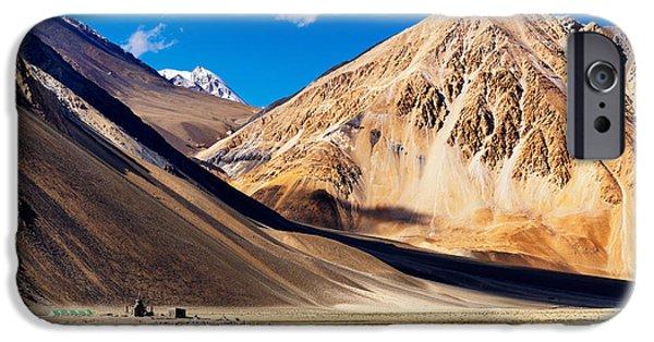 Tibetan Buddhism iPhone Cases - Mountains Pangong tso Lake Leh Ladakh Jammu and Kashmir India iPhone Case by Rudra Narayan  Mitra