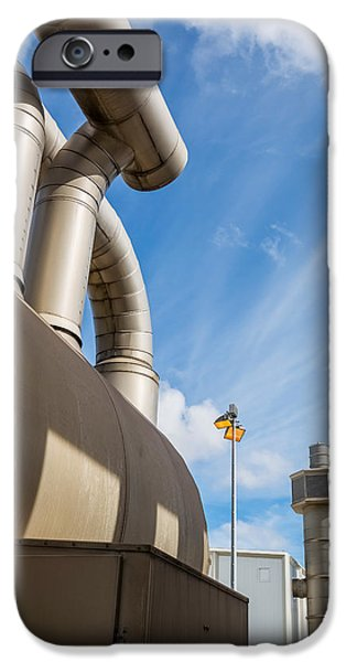 Power iPhone Cases - Pipes At Nesjavellir Geothermal Power iPhone Case by Panoramic Images