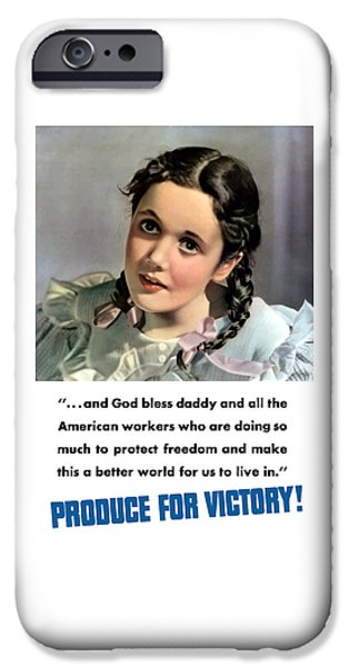 Little Girl iPhone Cases - Produce For Victory iPhone Case by War Is Hell Store