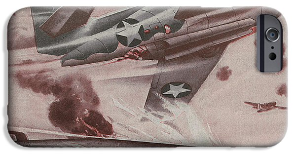 Jet Star iPhone Cases - World War II Advertisement iPhone Case by American School
