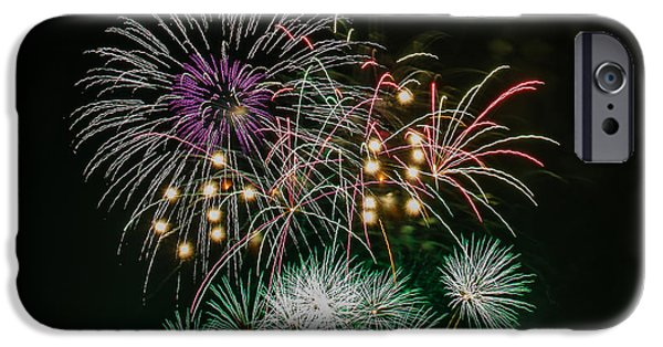 July 4th iPhone Cases - Fireworks iPhone Case by Buddy Woods