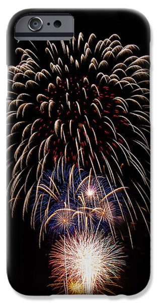 4th July iPhone Cases - Fireworks iPhone Case by Buddy Woods