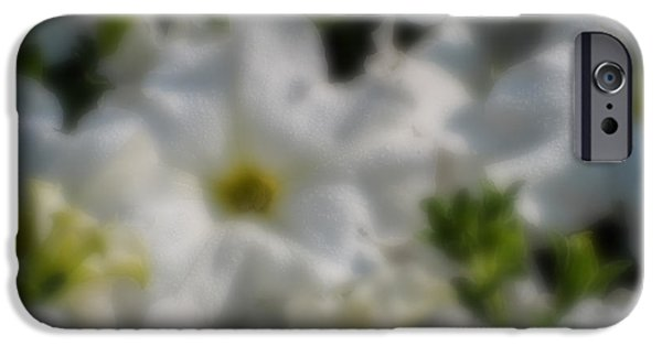 Nature Abstract iPhone Cases - Blurred seasonal flower with dark background iPhone Case by Rudra Narayan  Mitra