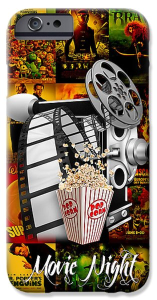 Camera iPhone Cases - Movie Room Decor Collection iPhone Case by Marvin Blaine