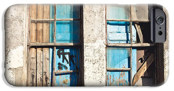 Haunted House iPhone Cases - Old window iPhone Case by Tom Gowanlock