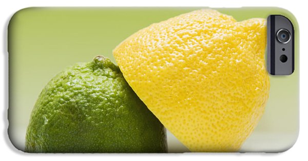 Colour Image iPhone Cases - 12 Organic Lemon And 12 Lime iPhone Case by Marlene Ford