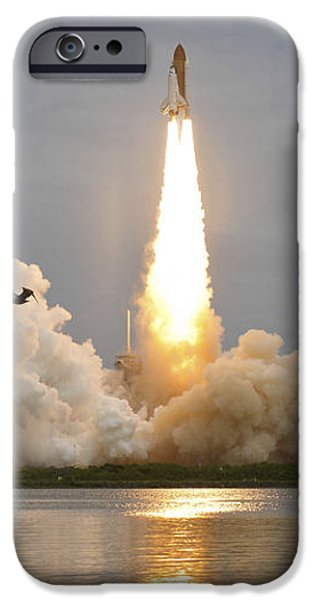 Space Shuttle Atlantis Lifts iPhone Case by Stocktrek Images