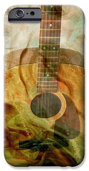 Energy Art Movement iPhone Cases - 12 String iPhone Case by Linda Sannuti