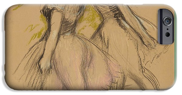 Ballet Dancers iPhone Cases - Two Dancers iPhone Case by Edgar Degas