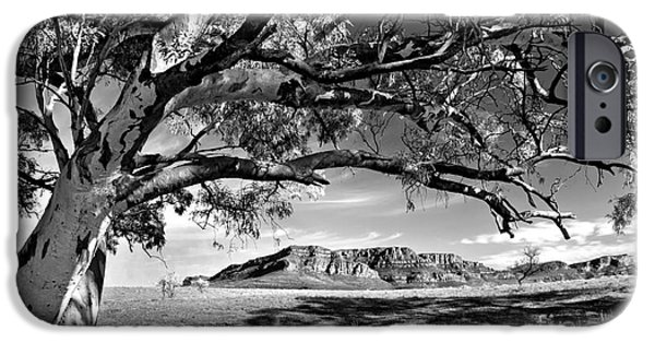Monochrome iPhone Cases - Wilpena Pound  iPhone Case by Bill  Robinson