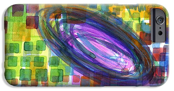 Contemporary Abstract iPhone Cases - Yet untitled iPhone Case by Heidi Capitaine