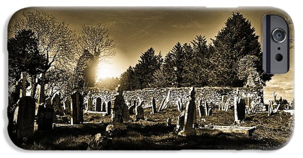 Cemetary iPhone Cases - 12th Century Sunrise iPhone Case by Barry Lennon