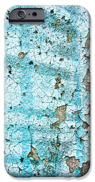 Asphalt iPhone Cases - Blue metal iPhone Case by Tom Gowanlock