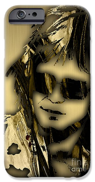 Colorful Mixed Media iPhone Cases - Elton John Collection iPhone Case by Marvin Blaine