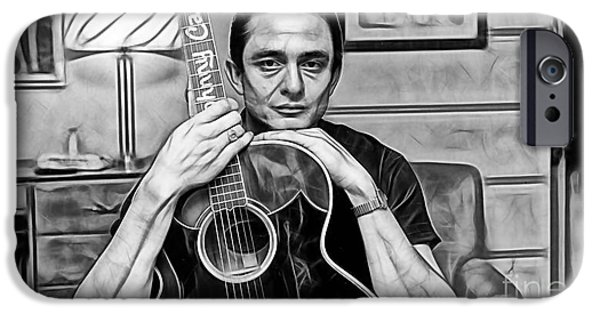Celebrities iPhone Cases - Johnny Cash Collection iPhone Case by Marvin Blaine