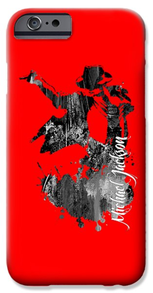 Michael iPhone Cases - Michael Jackson Collection iPhone Case by Marvin Blaine