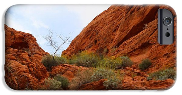 Red Rock iPhone Cases - Mouses Tank Trail iPhone Case by Kathryn Meyer